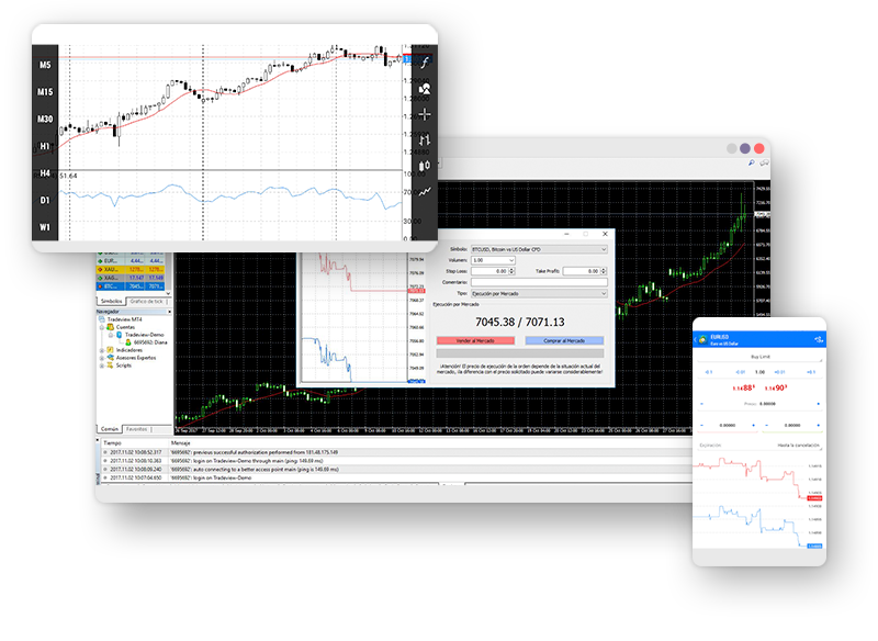 Learn the differences between trading with MT4 and MT5 with Tradeview Forex