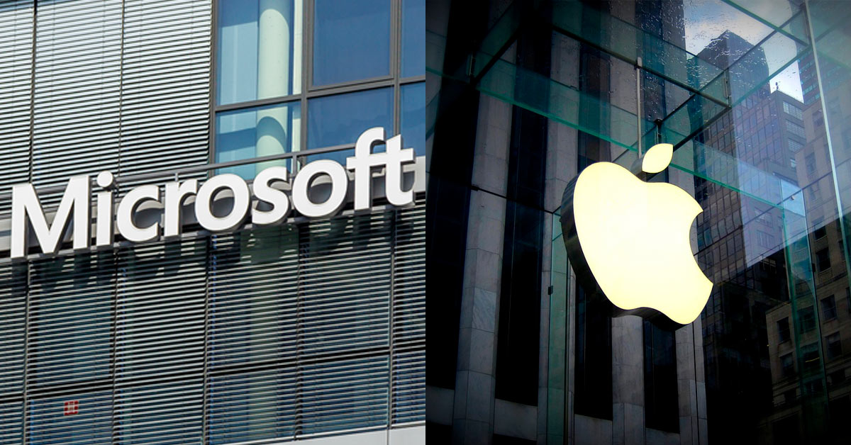 Apple and Microsoft lead indices higher
