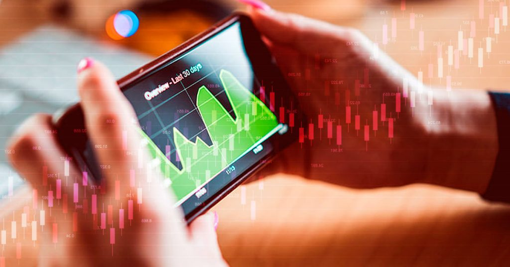 Online trading from a smart phone