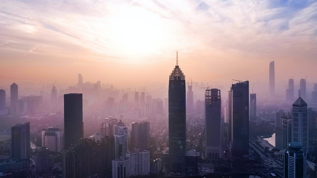 Wuhan Skyline as Chinese Economy Grows despite pandemic
