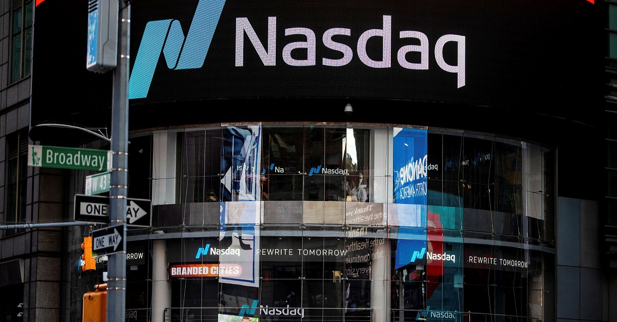 The NASDAQ vuilding, nasdaq and S&P 500 reached record highs as GDP data came in