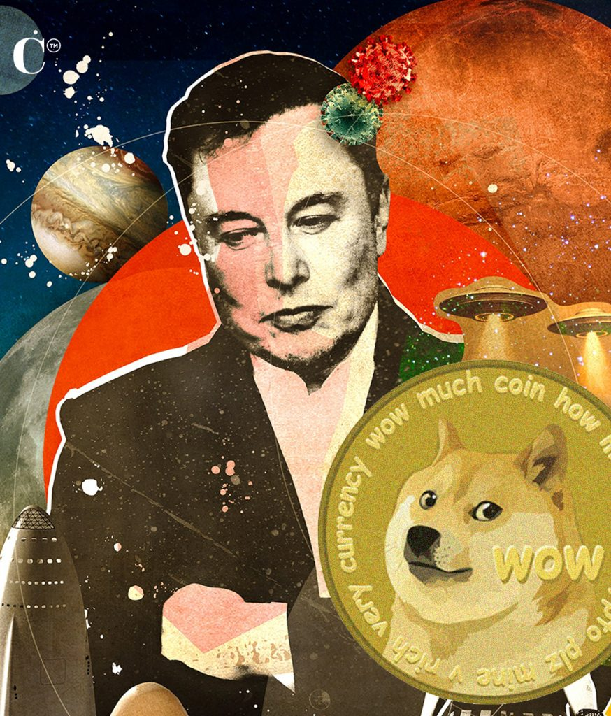 """Elon Musk, the self named """"dogefather"""" because of his support of the crypto coin"""
