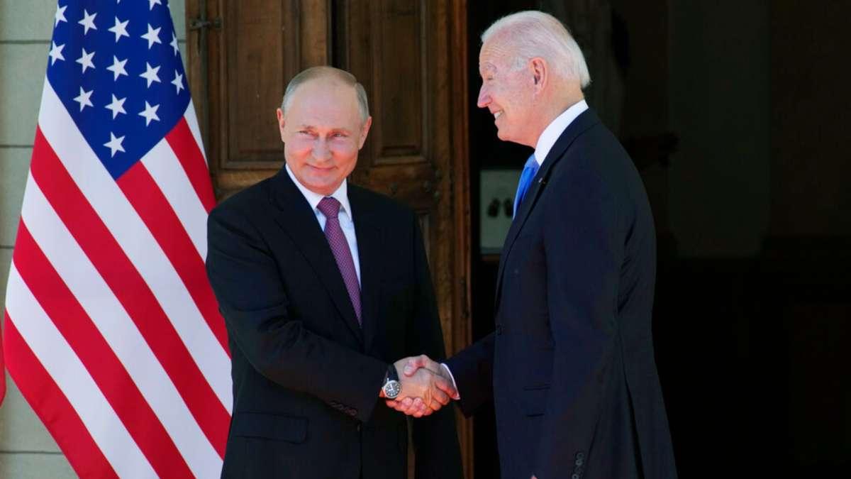 Joe Biden and Vladimir putin peet for the first time